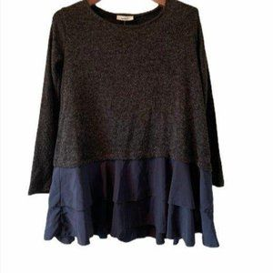 NWOT Love In Black Sweater-S
